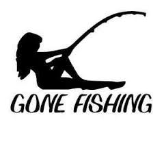 Gone Fishing Skillet Cool Woman Decal Fish Bones Car Truck Boat Sticker New Ebay