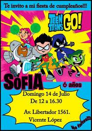 Tarjeta Invitacion Jovenes Titanes Digital Cumpleanos 150 00
