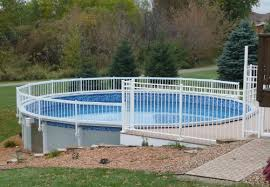 Guard Above Ground Swimming Pool Safety Fence Kit A 8 Spans Amazon In Garden Outdoors