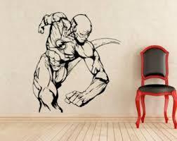 The Flash Wall Decal Etsy Superhero Wall Playroom Mural Interior Murals