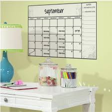 Scroll Dry Erase Calendar Peel And Stick Wall Decals Walmart Com Walmart Com