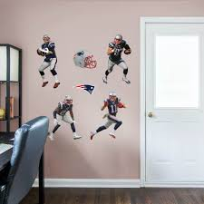Boys Room Basement New England Patriots Nfl Wall Decals Follow Up On Pinterest For All Your Home Decal Football Bedroom Football Rooms Boys Football Room
