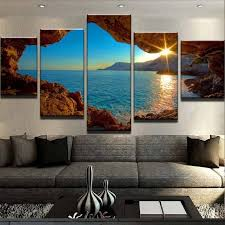 diy large scenic rocky sea canvas