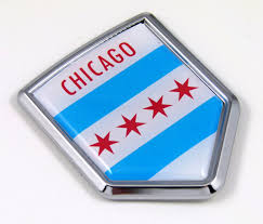 Chicago Flag Crest Car Badge Seethrugraphics And Chrome Car Badges