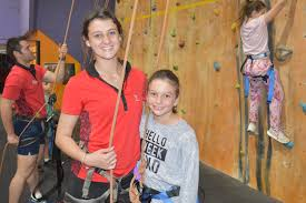 CLIMBING BUDDIES: Abby Collins 10 climbed the rock wall at ... | Buy Photos  Online | Queensland Times