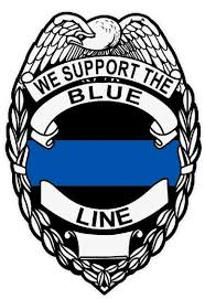 We Support The Blue Line Reflective Badge Police Law Enforcement Decal Sticker For Sale Online Ebay