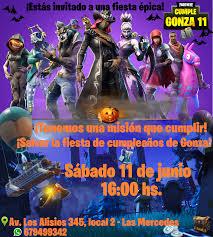 Diseno Personalizado De Tu Invitacion De Halloween Fortnite