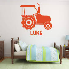 Tractor Wall Decal For Kids Vinyl Decor Wall Decal Customvinyldecor Com
