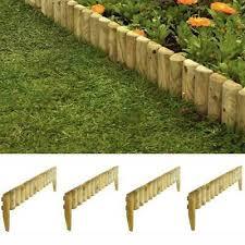 rowlinson wooden 9 garden border fence