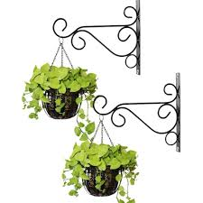 Plant Hanging Bracket Planter Hanger 2 Pcs Wall Hook Hanging Plant Bracket With Screw Decorative Straight Plant Hanger For Bird Feeders Planters Lanterns Wind Chimes Indoor Outdoor Walmart Canada