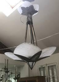 silvered bronze 3 tier chandelier