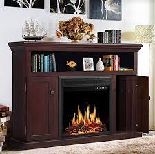 jamfly wood electric fireplace mantel