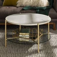 manor park modern round coffee table