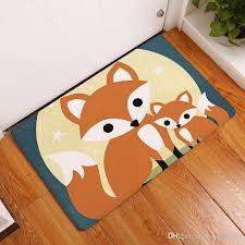 Cartoon Kids Room Carpet Printed Fox Baby Rugs Soft Doormat Kawaii Alfombra Owl Bedroom Bathroom Floor Mat Discount Oriental Rugs Buy Area Rugs From Sunrise5795 7 63 Dhgate Com