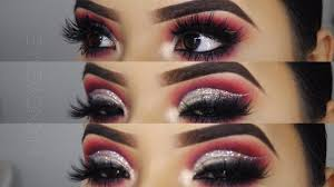 glitter cut crease makeup look for
