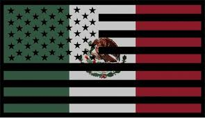 American Mexican Flag Decal Sticker 02