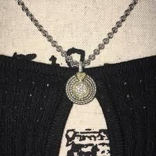 judith ripka round diamond pave pendant