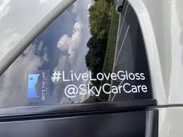 Sky S The Limit Car Care Premium Sticker