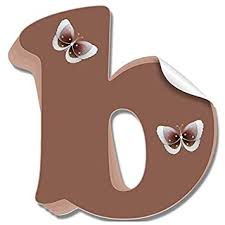 Amazon Com Wall Letter Stickers Custom Name Decals Girls Personalized Initial Baby Nursery Kids Room Decor Childs Playroom Bedroom Home Vinyl Alphabet Removable Peel Stick Butterflies Letter B Brown Butterfly Baby
