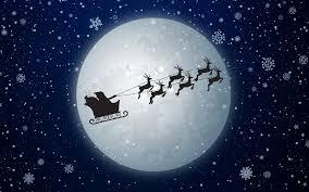 تحميل خلفيات بابا نويل على مزلقة 4k عشية السنة الجديدة الخلفية