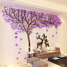 3d Couple Tree Wall Decals Purple Diy Wall Stickers For Living Room Bedroom Tv Sofa Backdrop Home Decor Art Decorations Style B S Wantitall