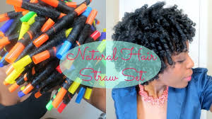 77 straw set on natural hair