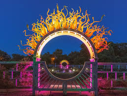 missouri botanical garden gets lit with