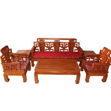 sofa solid wood sofa six piece set zen