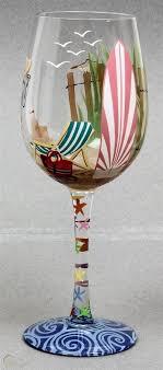 girl beach girl 15 oz wine glass