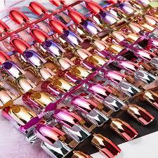 24pcs reflective mirror silver pink