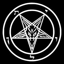 Amazon Com 4x4 Inch Pentagram Sticker Baphomet Demonic Devil Dragon Evil Goat Skull Goat S Head Gothic Metal Occult Punk Satan Satanic Skeleton Voodoo Wicca Witchcraft Leviathan Cross 666 Inverted Demon