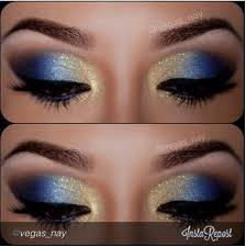 homeing makeup for a blue dress