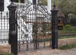 Beautiful Deluxe Iron Gates Design Idea With Black Classic Carved Theme Double Front Door Fence Iron Garden Gates Wrought Iron Garden Gates Wrought Iron Gates