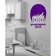 Shop A Computer A Laptop Office Programmer Geek Wall Art Sticker Decal Purple Overstock 11885804