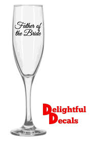 Wedding Bridal Party Vinyl Wine Glass Decal Sticker Name House Plans 91463
