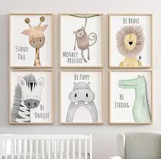 Safari Nursery Decor Animal Nursery Prints Quote Nursery Etsy Jungle Nursery Decor Animal Nursery Decor Safari Nursery Decor