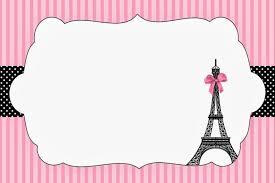 Paris Invitations And Free Party Printables Invitaciones Para