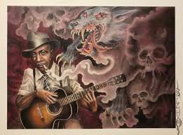 "Tim Lehi ""Hell Hound On My Trail - Robert Johnson"" Signed Poster ..."
