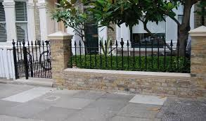 Front Yard Patio Landscaping Pictures With Wrought Iron Fencing Of Landscaping From Rails And Gat Victorian Front Garden Garden Railings Front Yard Fence