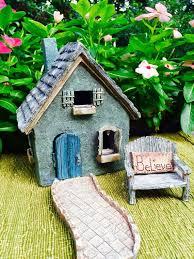 fairy garden kit starter set blue