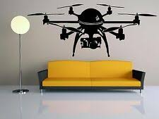 Quadrocopter 4k Uhd Wall Decal Room Vinyl Sticker Decor Mural Drone Camera F2395 Ebay