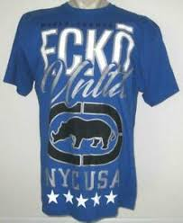 neuf ecko unltd homme t shirt bleu