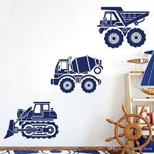 Bulldozer Cement Truck Dump Truck Wall Decal Set Of 3 Construction Vehicles Truck Wall Sticker Vinyl Boy Play Room Decor Stickers On Wall Stickers On Walls From Joystickers 8 96 Dhgate Com