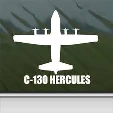 C 130 Hercules White Sticker Decal Milit Buy Online In New Caledonia At Desertcart