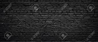 texture of a perfect black brick wall