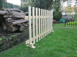 Timber Free Standing Picket Fence Panels Smooth Timber 6ft X 3ft 2987413059864 Ebay