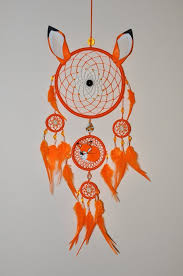 Fox Dream Catcher Animal Wall Hanging Tribal Totem Etsy