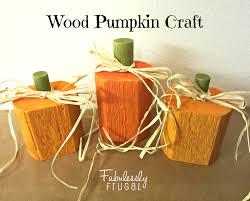 Wood Pumpkin Craft