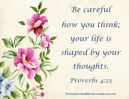 Your Thoughts Matter | Thoughts, Verse of the day, Daily bible verse