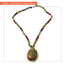 ancient egyptian necklace with scarab